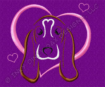 I Love Basset Hounds Embroidery
