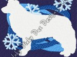 Snowflake Border Collie Embroidery
