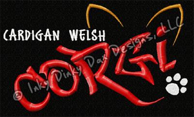 Corgi Graffiti Embroidery