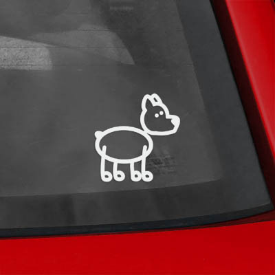 Stick Figure Dog Sticker