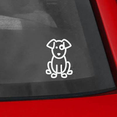 Cute Dog Vinyl Sticker