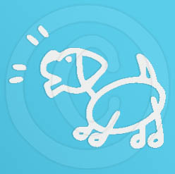 Funny Stick Figure Dog Vinyl Sticker