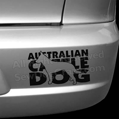 Cattle Dog Car Sticker