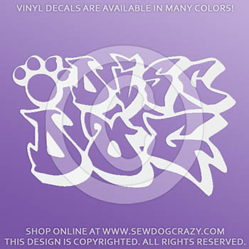 Graffiti Disc Dog Decals