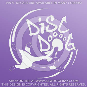 Vinyl Disc Dog Decals