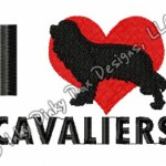 Cavalier King Charles Spaniel Embroidery