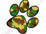 Camouflage Paw Embroidery
