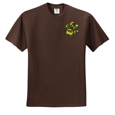 Embroidered Military Paw Print T-Shirt