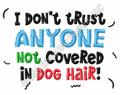 Funny Dog Lover Embroidery