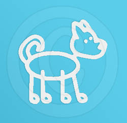 Curled Tail Dog Decal
