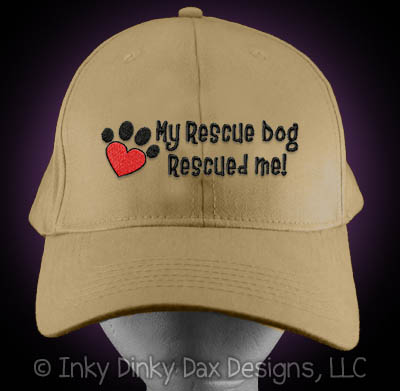 Rescued Me Embroidered Hat
