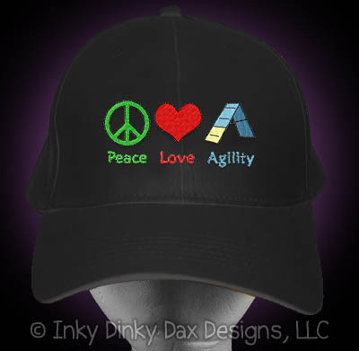 Peace Love Agility Embroidered Hat