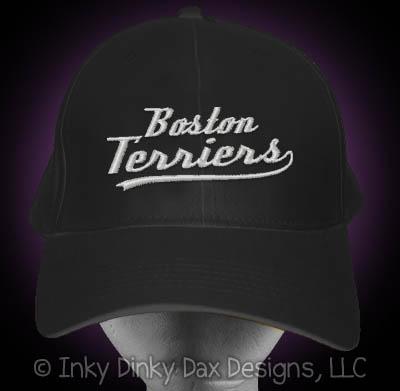 Baseball Boston Terrier Hat