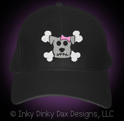 Cool Girlie Dog Skull Hat