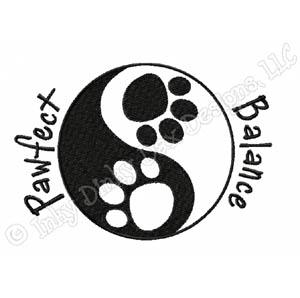Dog Lover Yin Yang Embroidery
