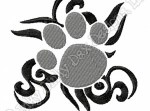 Tribal Paw Embroidery