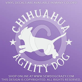Chihuahua Agility Decals