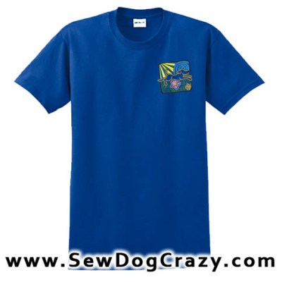 Embroidered Dog Lover Tshirts