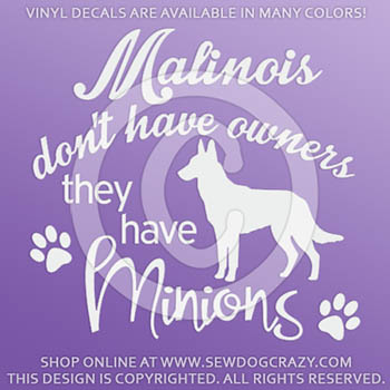 Funny Malinois Vinyl Decals