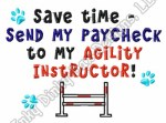 Funny Agility Instructor Embroidered Apparel