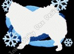 Snowy American Eskimo Dog Embroidery