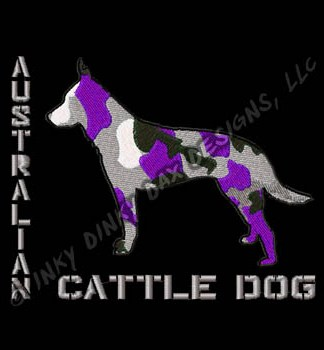 Urban Camo Cattle Dog Embroidery