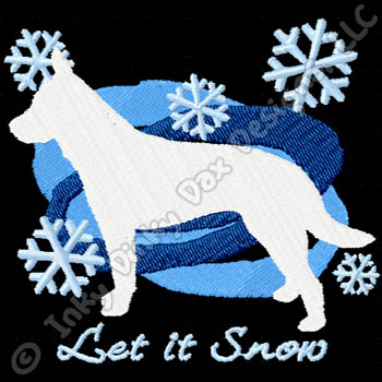 Blue Heeler Snowflake Embroidery