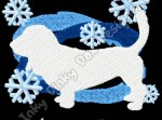 Snowflake Basset Hound Embroidery