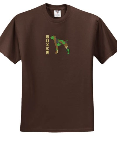 Camouflage Boxer Embroidered TShirt