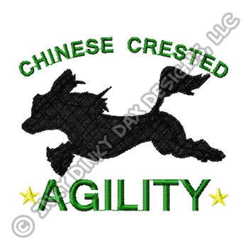 Chinese Crested Agility Embroidery