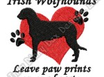 Cute Irish Wolfhound Embroidery