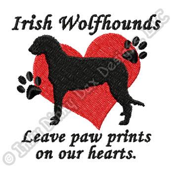 Cute Irish Wolfhound Embroidery