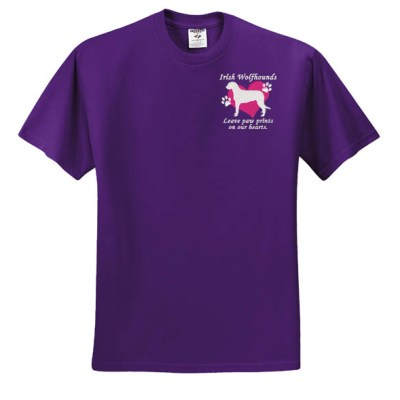Embroidered Irish Wolfhound TShirt