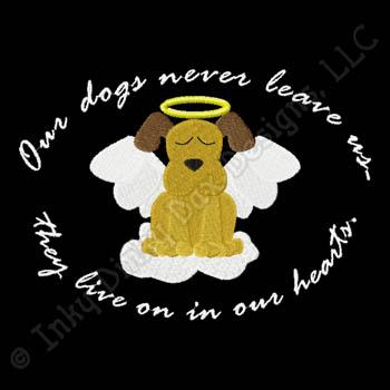 Dog Angel Embroidery