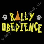 Crazy Rally Obedience Embroidery