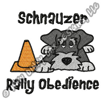 Cartoon Schnauzer Rally-O Embroidery