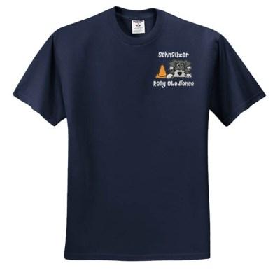 Embroidered Schnauzer T-Shirt