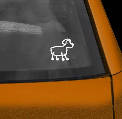 Stick Figure Aussie Car Sticker