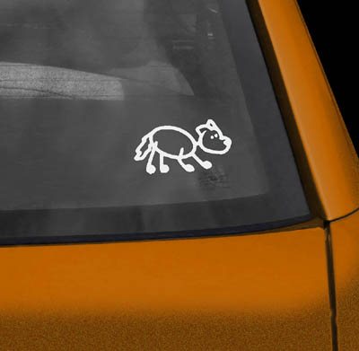 Crouching Border Collie Vinyl sticker