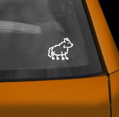 Vinyl Shetland Sheepdog Stickers