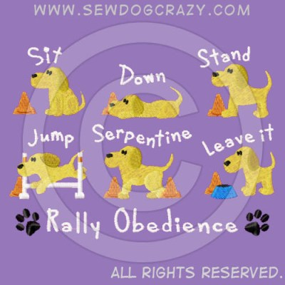 Rally Obedience Commands Shirt
