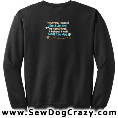 Embroidered Dog Walk Sweatshirt