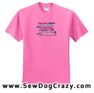 Embroidered Dog Walk Tshirt