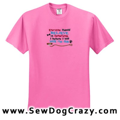 Embroidered Dog Walk Tshirt