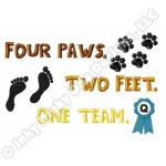 One Team Dog Agility Embroidery