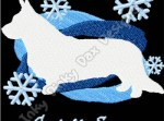 Winter Cardigan Welsh Corgi Embroidery