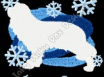 Winter Cavalier King Charles Spaniel Embroidery