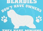 Funny Bearded Collie Decal