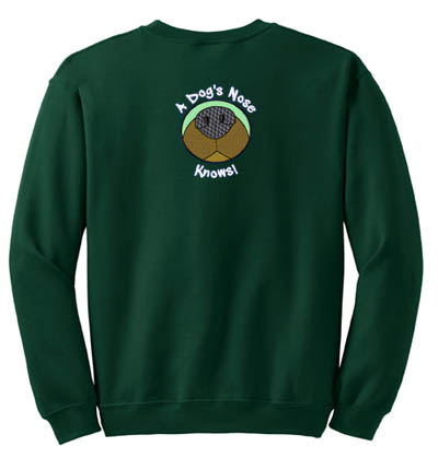 Dog Nose Sniffing Embroidered Sweatshirt