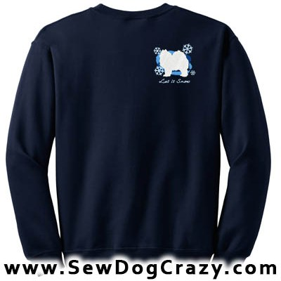 Let It Snow Samoyed Sweatshirt